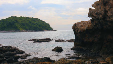 Landscape sea tropical coast in asia, sea, yachts, natureLandscape sea tropical coast in asia, sea, yachts, nature