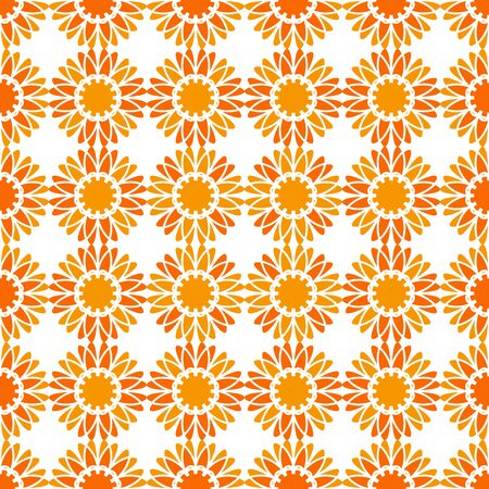 Seamless texture with abstract arabic geometric ornament. Vector mosaic pattern.