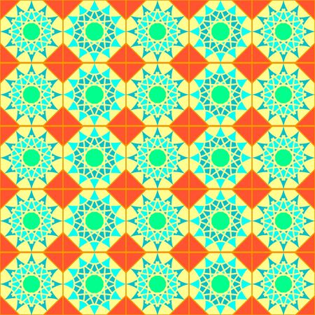Texture with abstract geometric ornament. mosaic pattern . Illustration