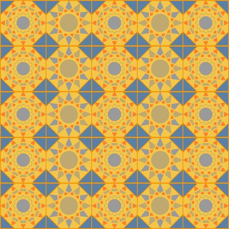 alhambra: Texture with abstract geometric ornament. mosaic pattern.