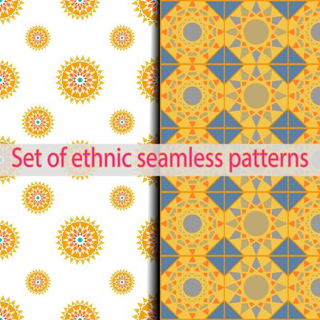 alhambra: Set of ethnic swatches panel pattern.