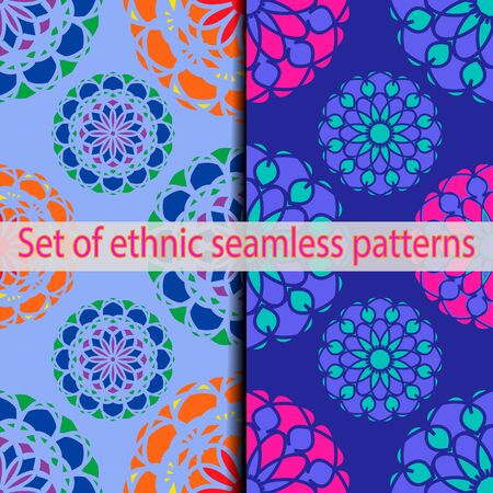 alhambra: Set of ethnic swatches panel pattern