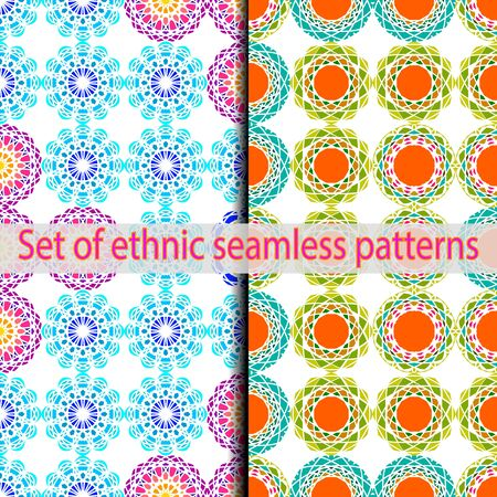 Set of ethnic swatches panel pattern.