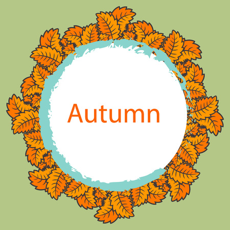 Abstract vector autumn background for text and message design, EPS10.