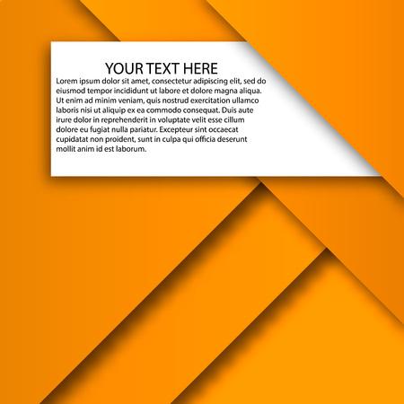 A Vector orange layers abstract vector geometric background, EPS10 Illusztráció