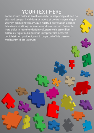 Colorful puzzle vector background Illustration