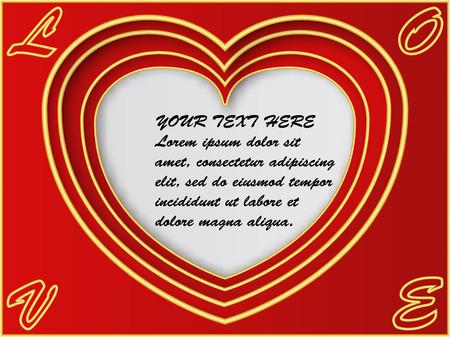 Valentine's day background design Иллюстрация