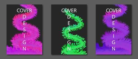 Kreatives Designplakat mit lebendiger Farbverlaufsform. Abstrakte Hintergründe der modernen Farbe für Flieger, Umschlag, Broschüre. Vektorschablone EPS10 A4 Größe.