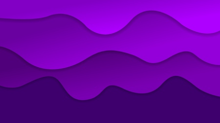 3D violet gradient layers abstract background. Vector design for business presentations, flyers, posters and invitations. Colorful carving art with shadows.