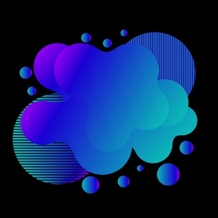 Abstract liquid color background. Futuristic trendy dynamic elements. Modern gradient for your design.