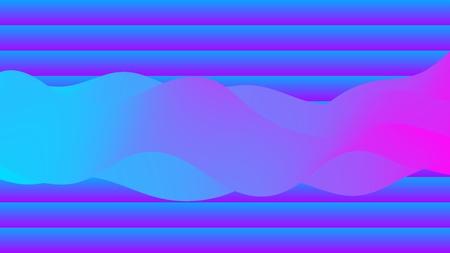 Liquid colorful shape. Modern trend background. Synthwave futurism vector illustration. Retrowave. Illustration