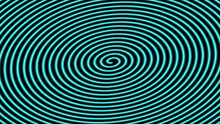 Abstract neon spiral vector dark background. Colorful blur lines. Illustration