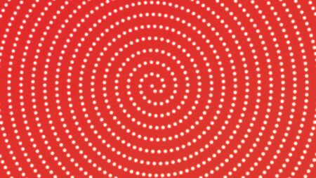 Vintage red background with bright lightbulbs. Vector spiral garland.
