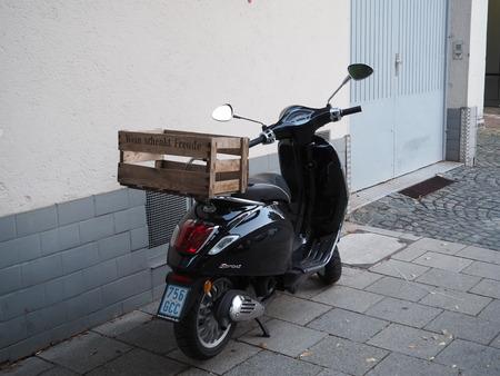 brings: scooter brings fruit Editorial