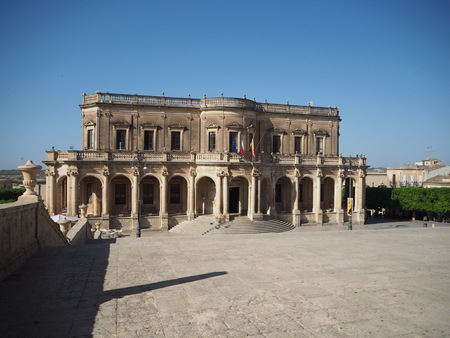 known: Hall of Noto in Sicily Editorial