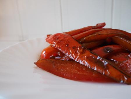 grilled peppers Banco de Imagens