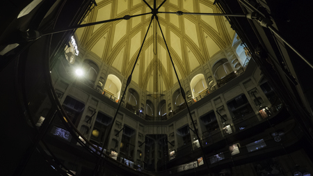 August 2018: The Mole Antonelliana is the seat of the National Cinema Museum. The most important historical and artistic exhibition on cinema in Italy. August 2018 in Turin Editorial