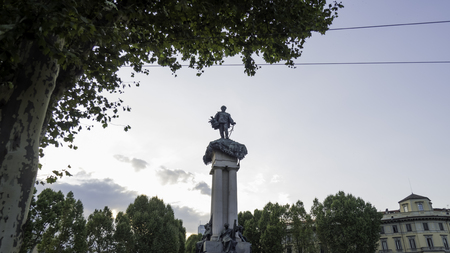 August 2018: Monument placed in the center of the homonymous square in the city center. August 2018 in Turin Editoriali