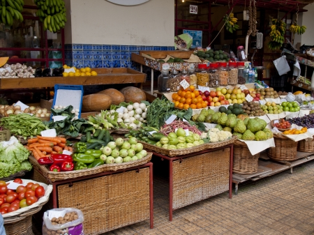 market hall: madeira island, farmers market