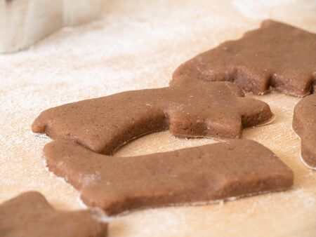 Raw Christmas gingerbread while making.