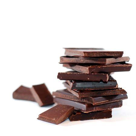 isolated chocolate blocks photo