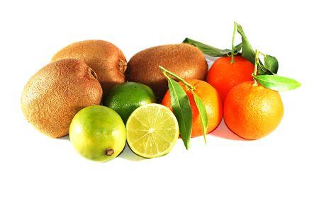 kiwis, tangerines and limes photo