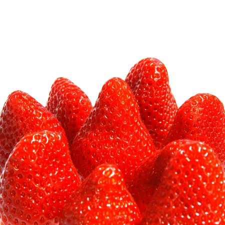 refreshed: delicious red strawberries huddled together