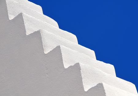 architecture detail under the scorching sun of the Aegean Sea in Greece (could be any island in Cyclades) photo