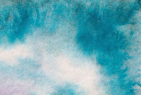 Watercolor color texture background. Watercolor abstraction. Artistic background. Blue watercolor background.Aqua color. Blue sky illustration. Imagens