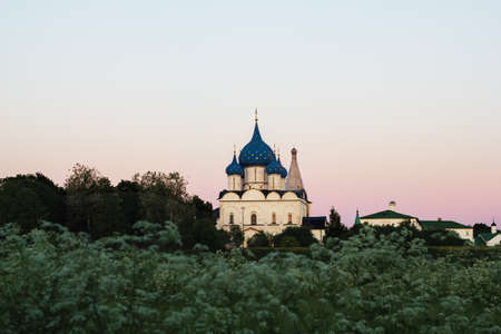 Russia, Suzdal: Mother of God-Nativity Cathedral in the Suzdal Kremlin. 免版税图像