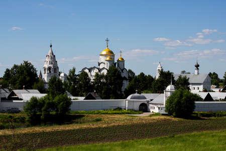 Russia, Suzdal: Pokrovsky Convent in Suzdal 免版税图像