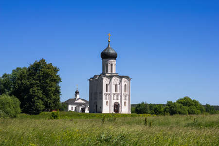 Russia, Vladimir region, Bogolyubovo, June 2021: Church of the Intercession on the Nerl