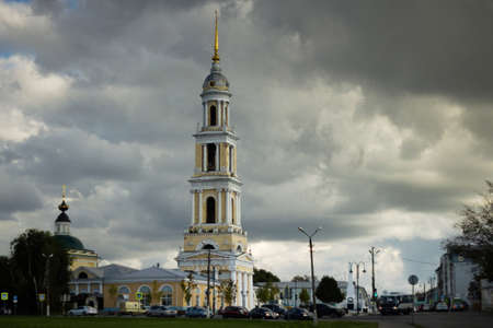 Russia, Kolomna, August 2020: the bell Tower of the Church of St. John the theologian in Kolomna in the summer.