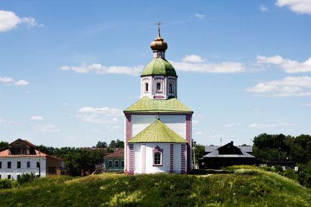 Russia, Suzdal, June 2021: Church of Elijah the Prophet on Ivanova Hill in Suzdal 新闻类图片