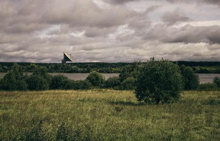 Russia.Kalyazin.August 2020. Kalyazin radio astronomy Observatory. Summer landscape.