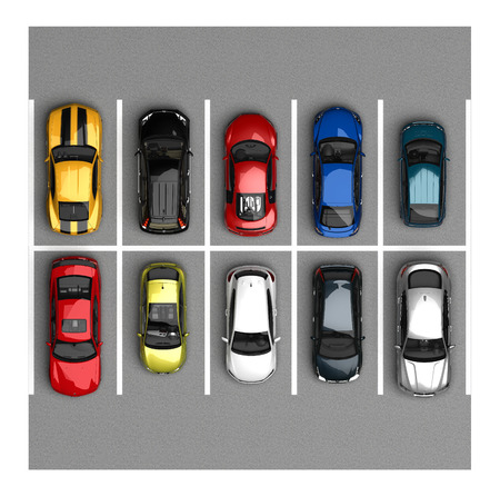 parking top view