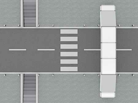 道路上を横断するためのオプションを表示します。3 d レンダリング