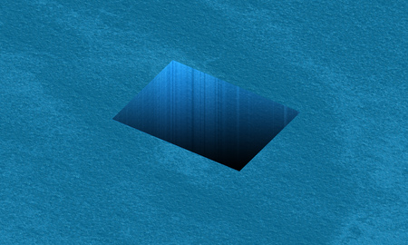 square hole in the ocean. 3d rendering Stock Photo