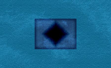 rectangular hole in the ocean top view. 3d rendering