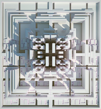 background of three-dimensional white blocks. 3d rendering