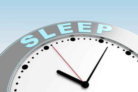 concepto de tiempo para dormir. Representación 3d Foto de archivo
