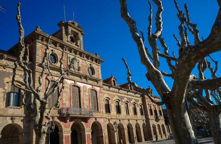 autonomia: Parlamento de Catalu�a, Barcelon, Espa�a. Foto de archivo