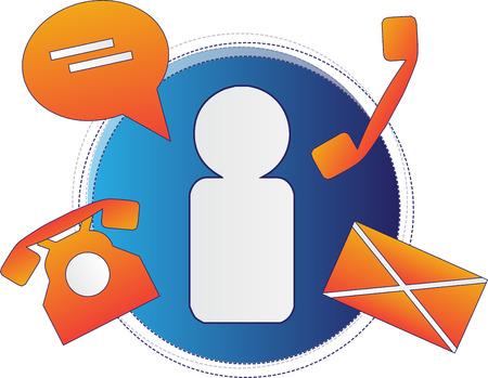 Zakelijke communicatie - symbolen van de communicatie Vector Illustratie