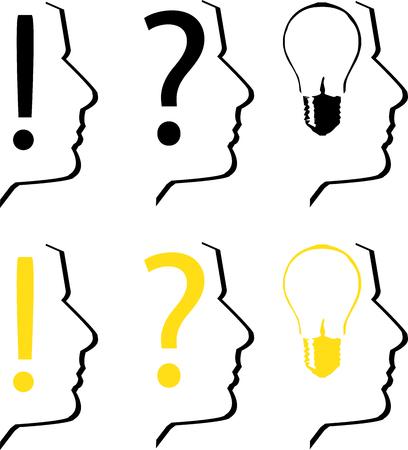 canny: Thinking silhouettes Illustration