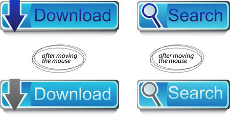 Web buttons - download and search Vector