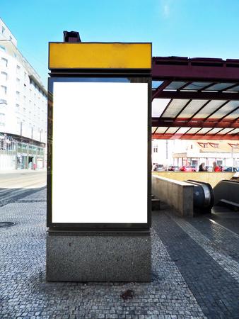 Blank billboard - citylight photo