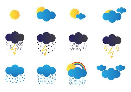 squall: Weather icons Illustration