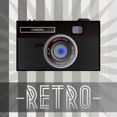 old fashioned: Retro camera with old fashioned background