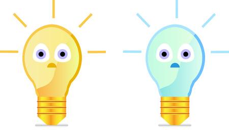 puerile: Cartoon light bulb Illustration