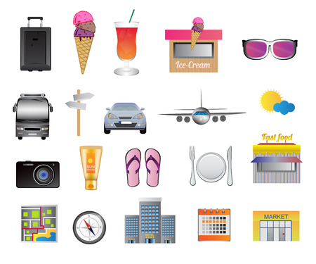 holiday icons: Travel and holiday icons